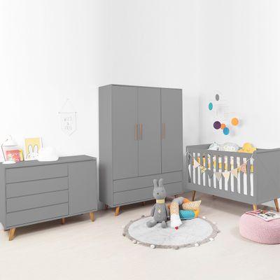 Kit-Quarto-Infantil-Retro-Cinza–Berco-Armario-Comoda-com-Porta