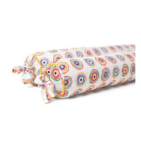 kit-2-rolos-para-cama-montessoriana-cirulos-coloridos-tecido-exclusivo-detalhe