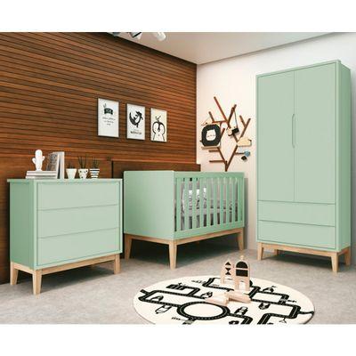 comoda-retro-square-3-gavetas-com-kit-pe-em-madeira-natural–verde1