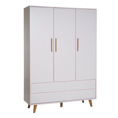 guarda-roupa-retro-3-portas-com-4-gavetas-rosa-diagonal