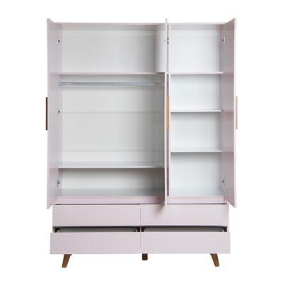 guarda-roupa-retro-3-portas-com-4-gavetas-rosa-aberta