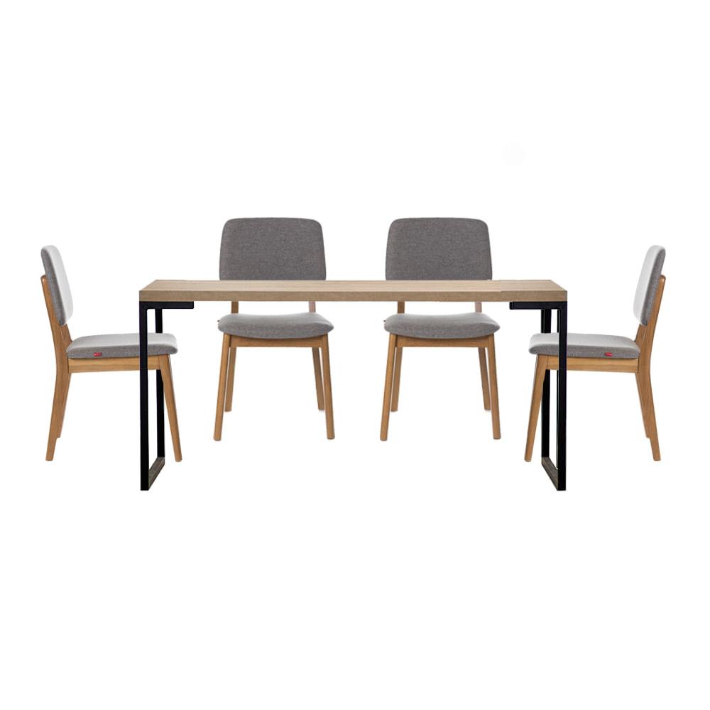 conjunto-mesa-yuma-tampo-Oak-com-4-cadeiras-dadi-linho-mesclado