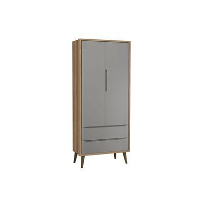 2752308ki---Armario-2-portas-retro-Theo-Cinza-Fosco-com-Mezzo--com-Kit-Pe-em-Madeira