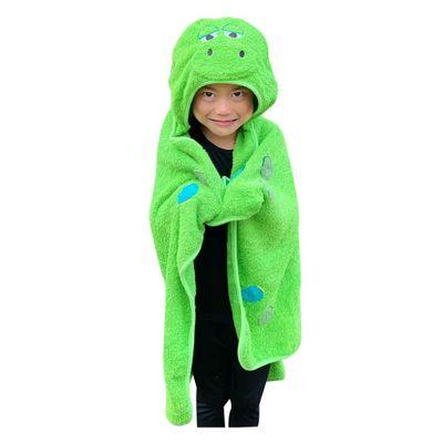toalha-de-banho-laco-bebe-dinossauro-com-capuz-verde1