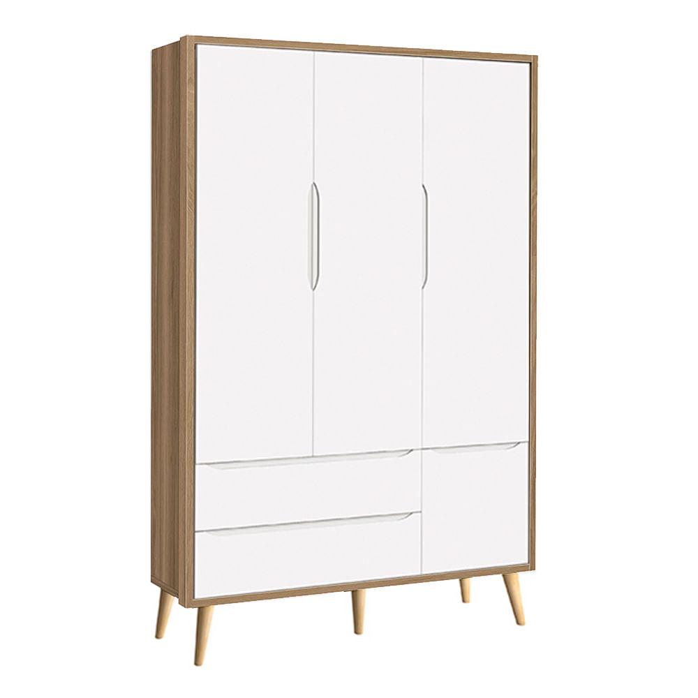 guarda-roupa-retro-theo-3-portas-com-pes-madeira-natural-branco-com-mezzo