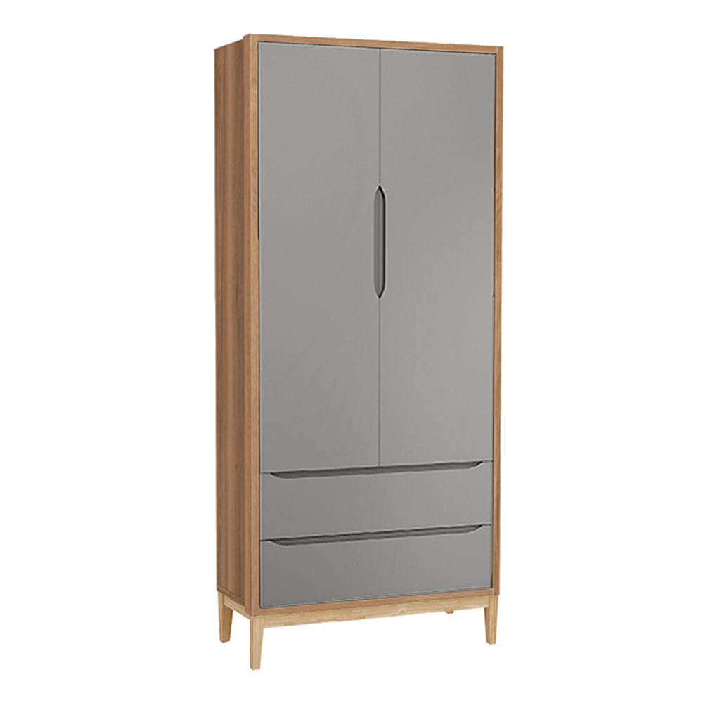 guarda-roupa-retro-square-2-portas-com-pes-em-madeira-natural-cinza-fosco-com-mezzo