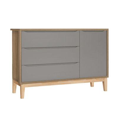comoda-retro-square-com-porta-Pe-em-madeira-natural-cinza-fosco-com-mezzo