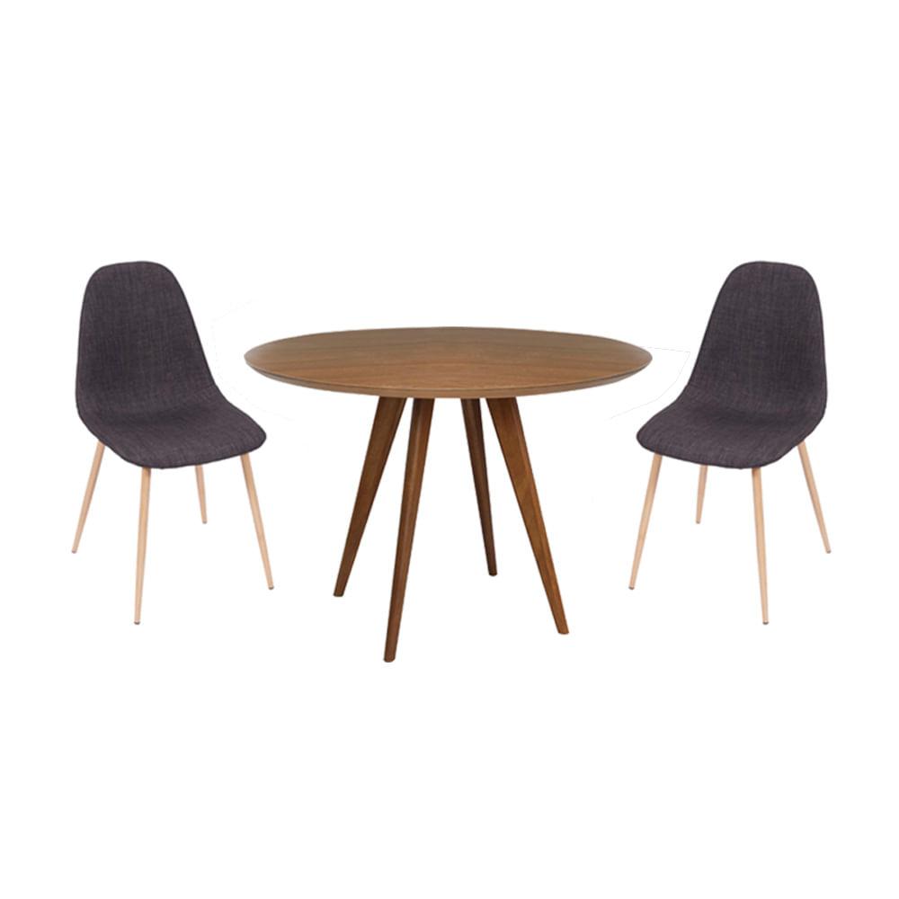conjunto-mesa-square-redonda-80cm-louro-freijo-com-2-cadeiras-tania-grafite
