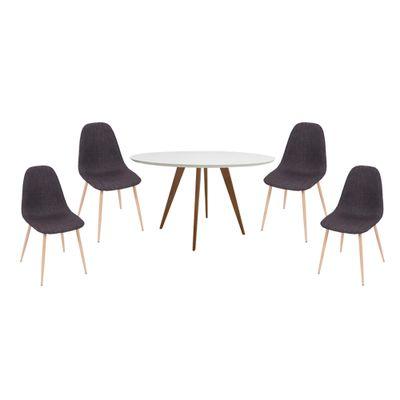 conjunto-mesa-square-redonda-80cm-louro-freijo-com-4-cadeiras-tania-grafite