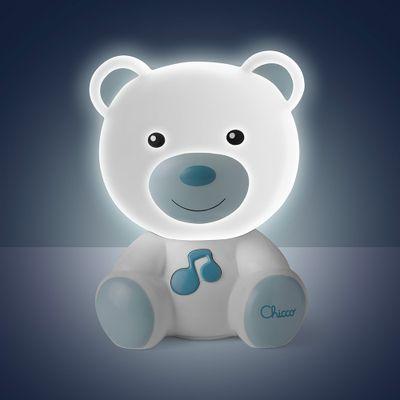 luminaria-chicco-infantil-ursinho-azul-acesa