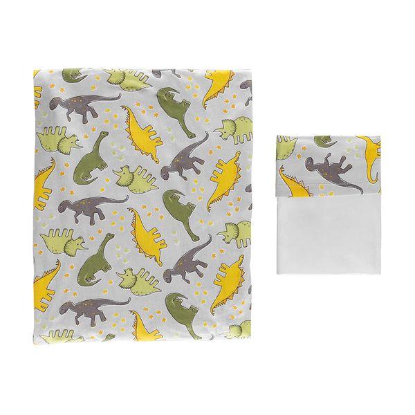 kit-lencol-com-elastico-2-pecas-dinossauro-cinza