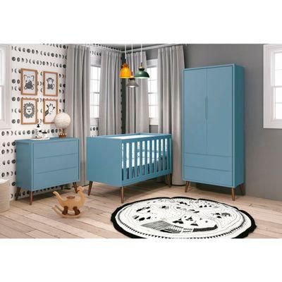 comoda-retro-theo-3-gavetas-pes-em-madeira-natural-azul-amibente