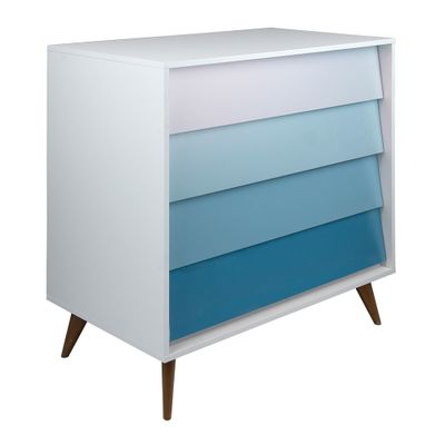comoda-vintage-4-gavetas-branca-com-degrade-azul