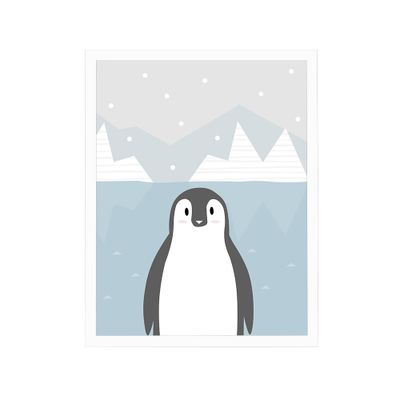 Quadro-Decoratta-Oceano---Pinguim