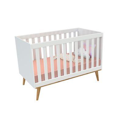 Kit-Quarto-Infantil-Ludmila-Branco---Berco---Comoda-com-Porta2