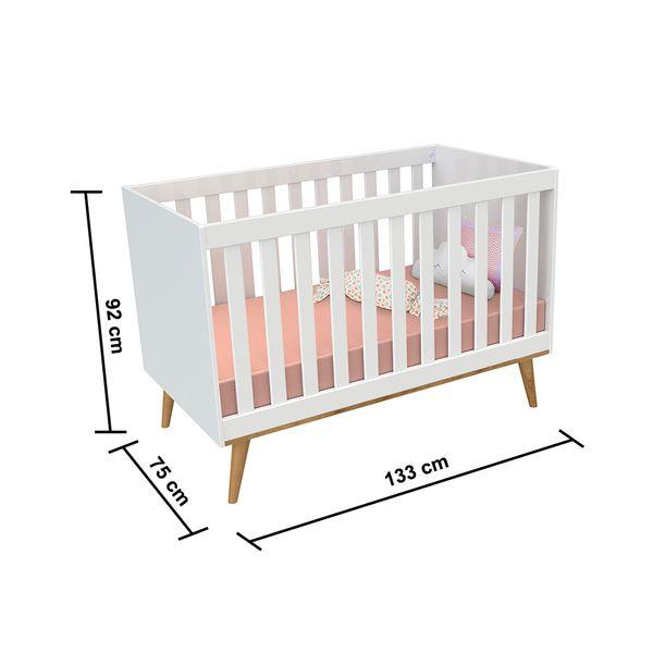 Kit-Quarto-Infantil-Ludmila-Branco---Berco---Comoda-com-Porta4