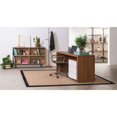 kit-escritorio-bancada-136cm-modulo-gavetas-louro-freijo-poltrona-noruega-cobre-baixa-ambiente