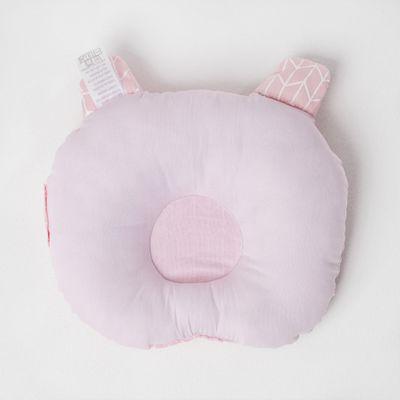 travesseiro-de-bebe-ursinho-com-tecido-geometrico-rosa-2