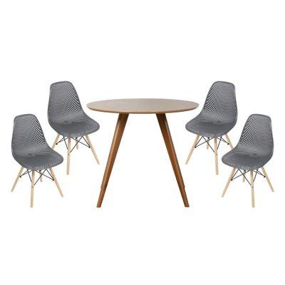 conjunto-mesa-square-redonda-tampo-betula-88cm-4-cadeiras-eames-colmeia-preta