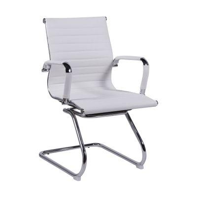 Cadeira-Madrid-Fixa-Cromada---Branca