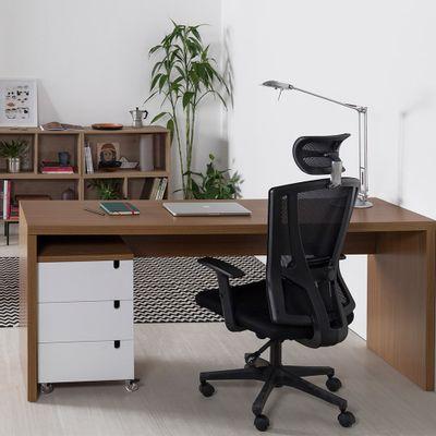 kit-escritorio-bancada-180cm-modulo-gavetas-louro-freijo-cadeira-de-escritorio-office-still-