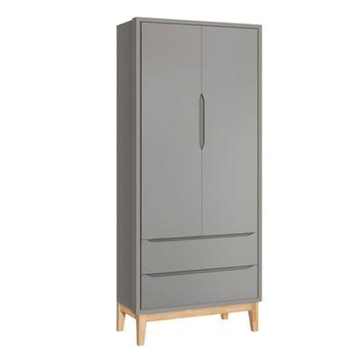 Guarda-roupa-Retro-Square-2-portas-com-Kit-Pe-em-Madeira-Natural–Cinza-Fosco-um