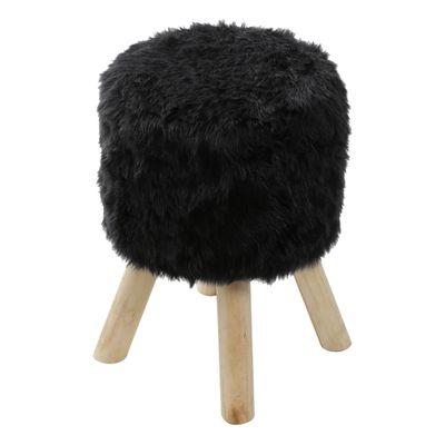 puff-big-peludo-preto-base-madeira-or-6625-frontal