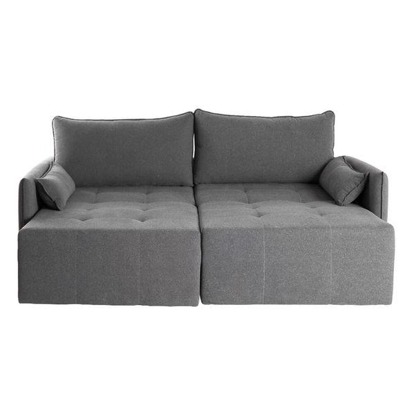 sofa-retratil-ming-tecido-linho-grafitte-198cm-frontal-aberto
