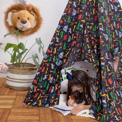 cabana-infantil-afrika-preta-crianca-dentro