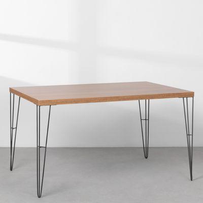 mesa-industrial-iron-louro-freijo-135cm-base-grafite