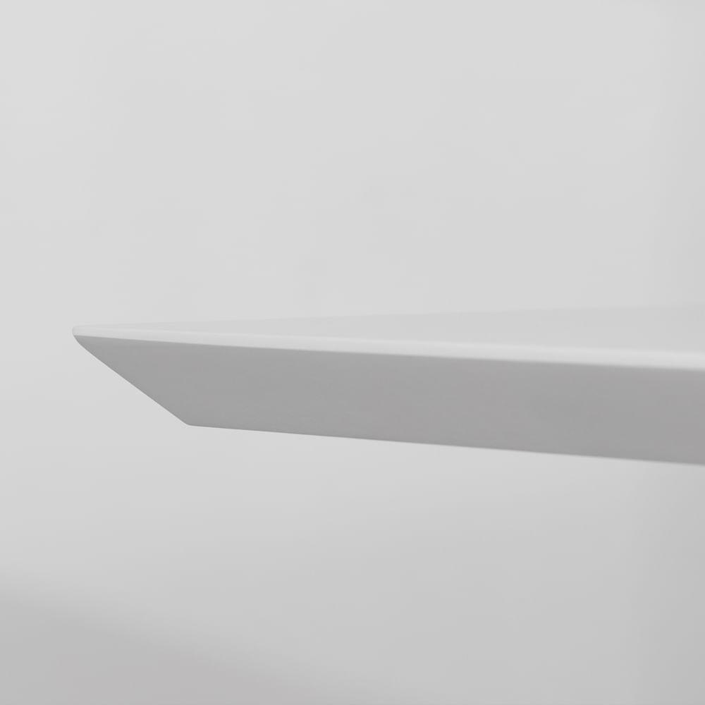 Mesa de Jantar Square Retangular Branco Fosco – 135x80cm