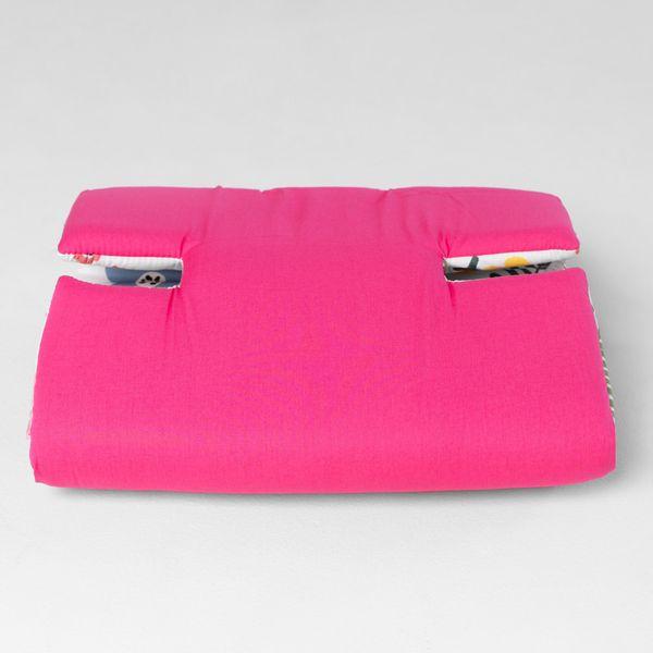 protetor-de-carrinho-universal-dupla-face-flo-rosa-frente-flo-dobrado-lado-rosa