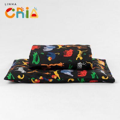 lencol-com-elastico-para-mini-cama-e-fronha-afrika-preto-com-logo