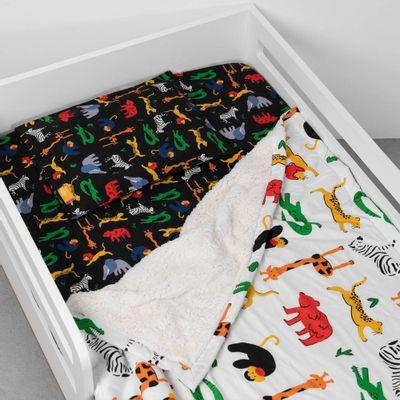 lencol-com-elastico-para-mini-cama-e-fronha-afrika-preto-na-mini-cama