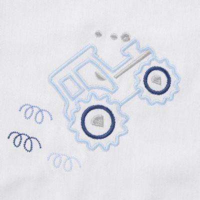 cueiro-bordado-trator-azul-detalhes