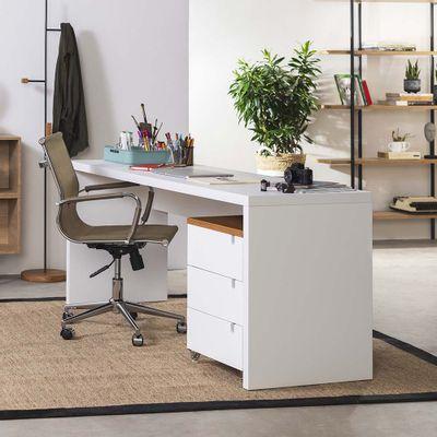 kit-escritorio-bancada-180cm-modulo-gavetas-louro-freijo-poltrona-noruega-cobre-ambiente