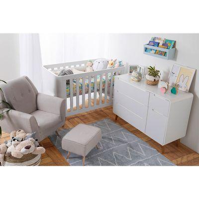 Kit-Quarto-Infantil-Curvo-Branco-Berco-Comoda-Poltrona-de-Amamentacao-Lola