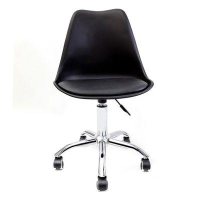 cadeira-de-escritorio-saarinen-giratoria-prata-e-preta-frente