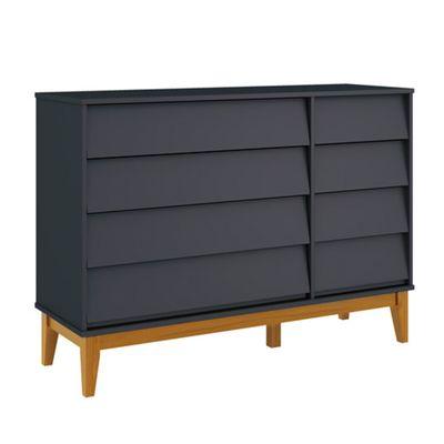 comoda-noah-4-portas-com-porta-e-pes-em-madeira-grafite-fosco