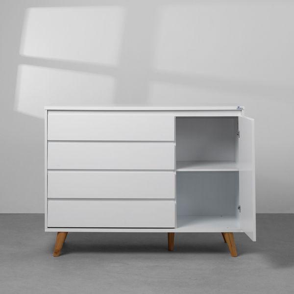 comoda-retro-4-gavetas-branco-frontal-aberto