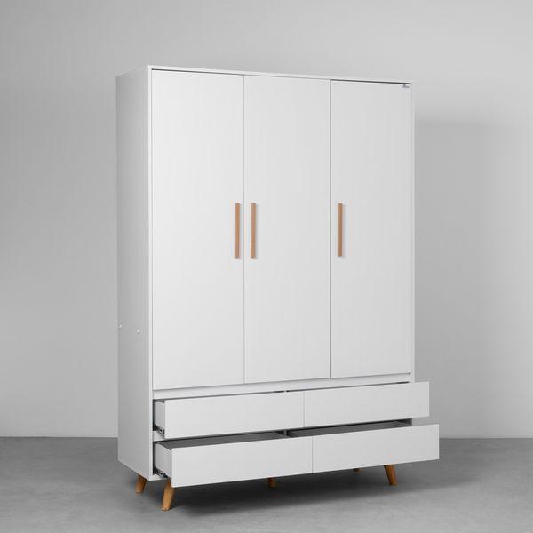 guarda-roupa-retro-3-portas-e-4-gavetas-branco-fosco-diagonal-aberto