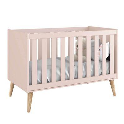 berco-mini-cama-noah-rosa-pes-madeira-natural