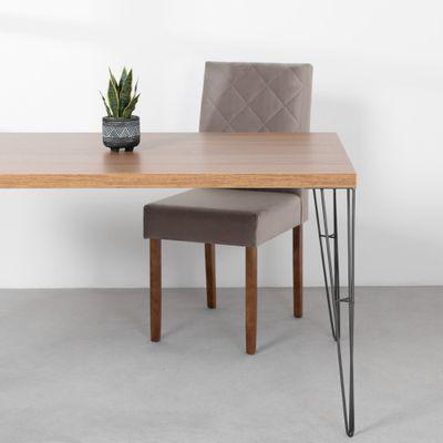 mesa-industrial-iron-louro-freijo-160cm-base-grafite-ambientada